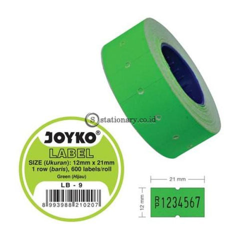 Joyko Label Harga Warna 1 Baris Lb-9 (1 Baris) Office Stationery