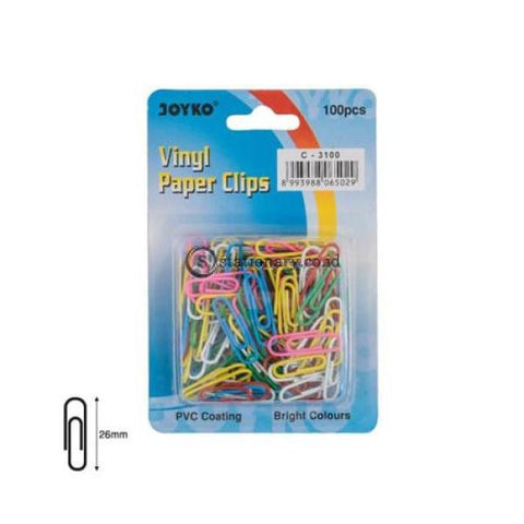 Joyko Paper Clip Warna 26Mm C-3100 (Color) Office Stationery