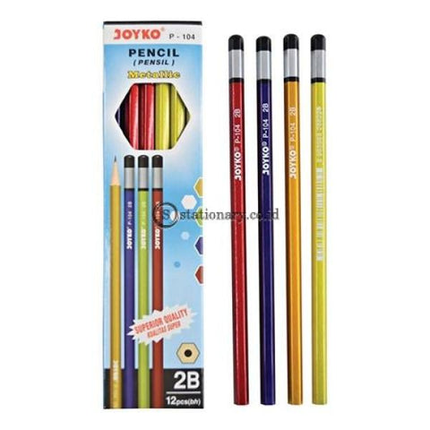 Joyko Pensil 2B Metallic P-104 Office Stationery Lain -