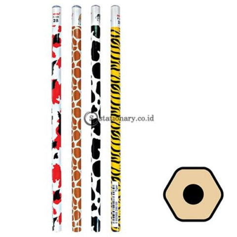 Joyko Pensil Kayu 2B Animal Kingdom P-101 Office Stationery