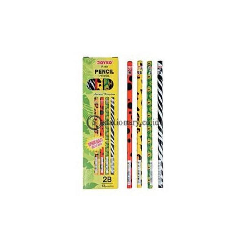 Joyko Pensil Kayu 2B Animal Kingdom P-99 Office Stationery