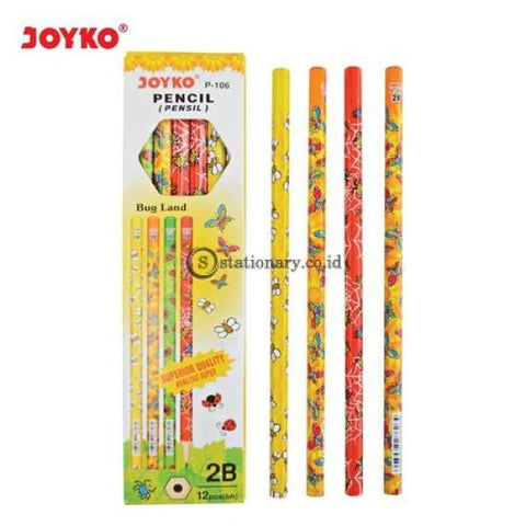 Joyko Pensil Kayu 2B Bug Land P-106 Office Stationery