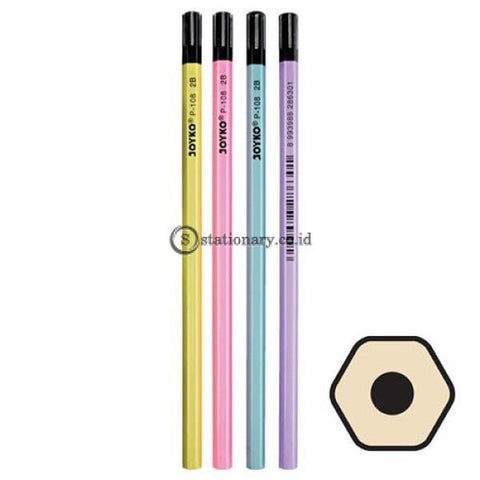 Joyko Pensil Kayu 2B Pearl Color P-108 Office Stationery
