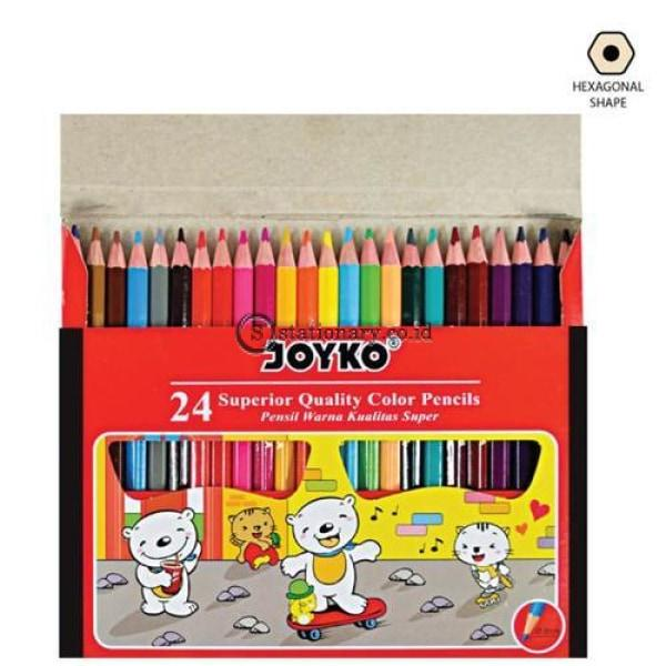 Joyko Pensil Warna 24 Color Pencil Long Cp-S24 Office Stationery