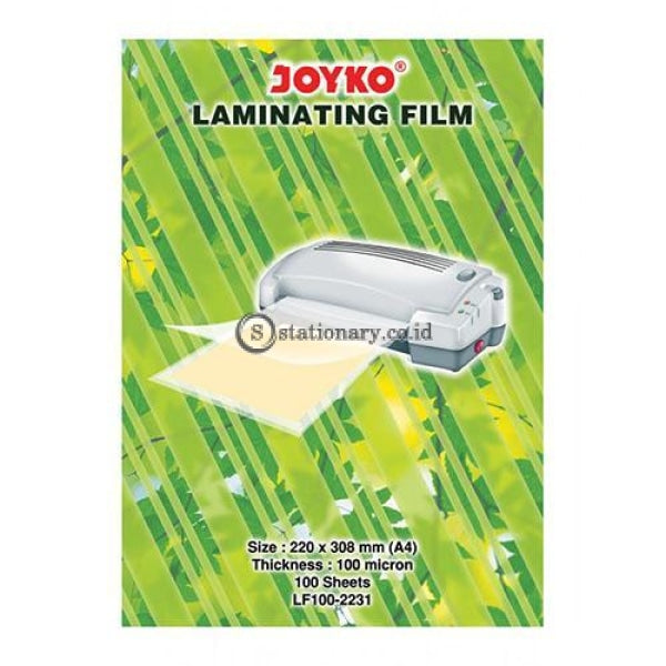 Joyko Plastik Laminating Film 100 Micron A4 (220X308Mm) Lf100-2231 Office Stationery