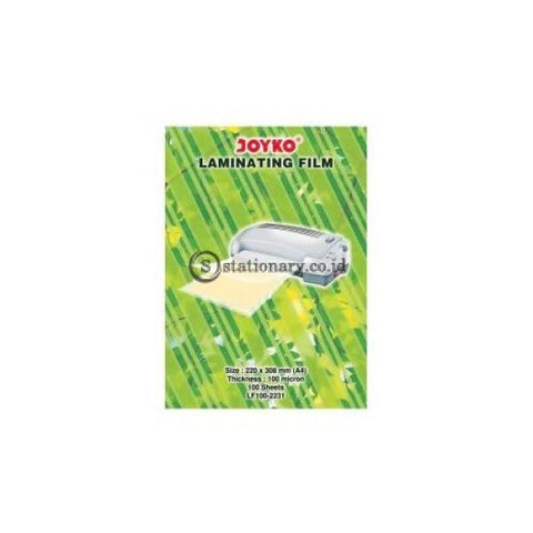 Joyko Plastik Laminating Film 100 Micron A4 Lf100-2231 Office Stationery
