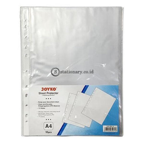 Joyko Plastik Pocket Sheet Protector A4 (10Pcs) Shp-202-10 Office Stationery