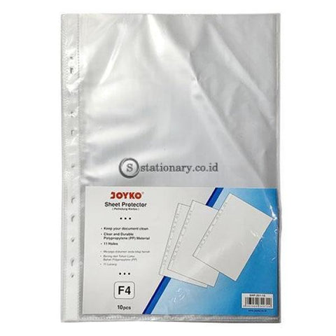 Joyko Plastik Pocket Sheet Protector F4 (10Pcs) Shp-201-10 Office Stationery