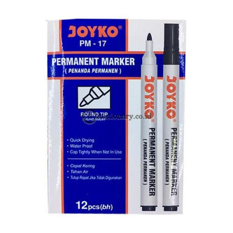 Joyko Spidol Permanent Marker Pm-17 Hitam Office Stationery