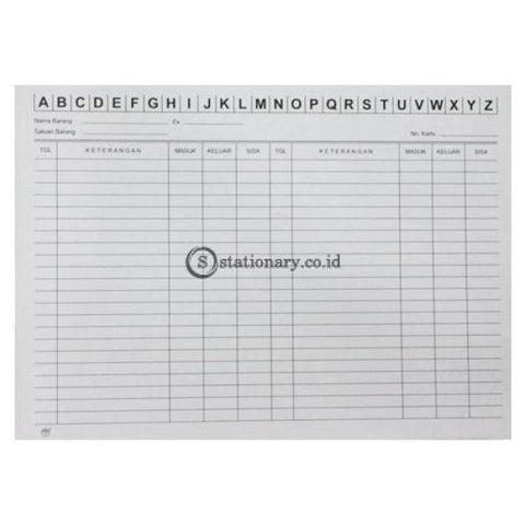 Kartu Stok A4 Standar Office Stationery