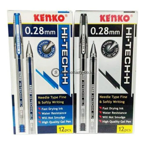 Kenko Gel Pen Hi-Tech H 0.28Mm Hitam Office Stationery