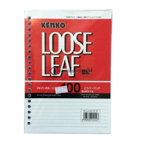 Kenko Loose Leaf 100 Sheets A5-Ll100 Office Stationery