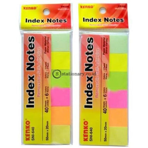 Kenko Sticky Note Index 6 Colours (50X20Mm) Sni-640 Office Stationery