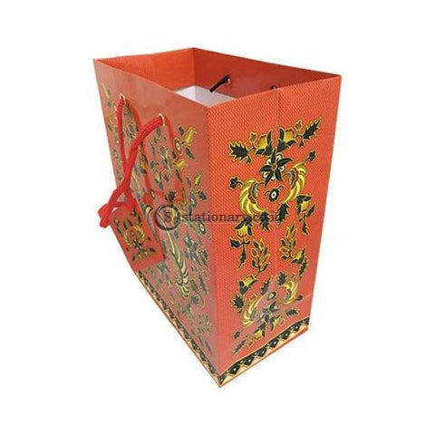 Kiky Tas Tali Kertas Paper Bag B Foil Batik Small (230X180X100Mm) Office Stationery