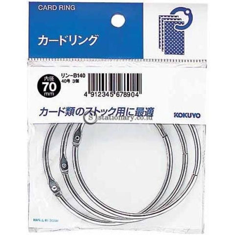 Kokuyo Card Ring 70Mm Rin-B140 Office Stationery