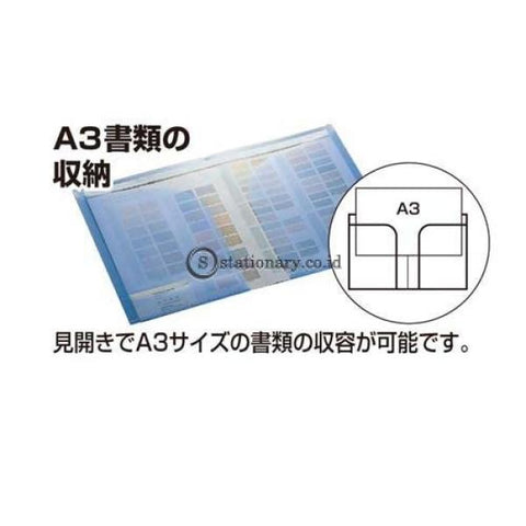 Kokuyo Clear Holder 2 Pockets A4 / A3 Fu-T755 Fu-T755-Transparant Office Stationery Promosi