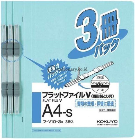 Kokuyo Flat File A4 Fu-V10-3 (Set 3) Biru Telur Asin Office Stationery Promosi