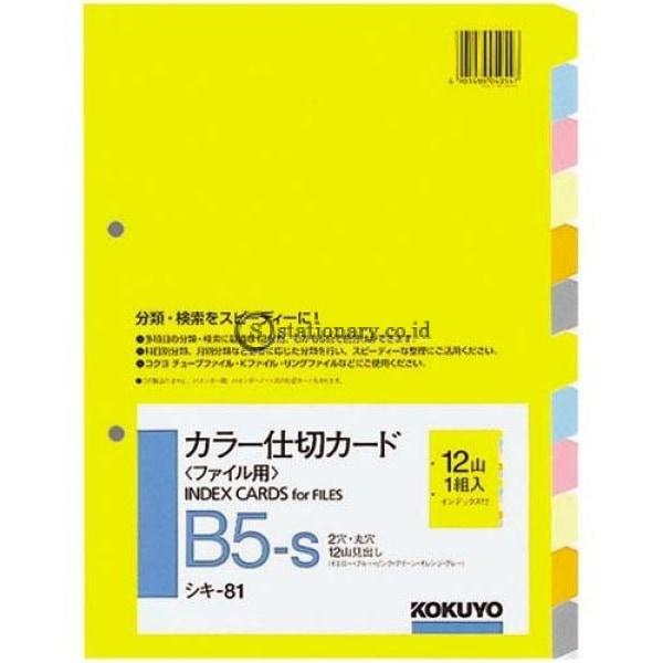 Kokuyo Index Card 6 Warna Dengan 12 Tab Divider B5 Shiki-81 Office Stationery