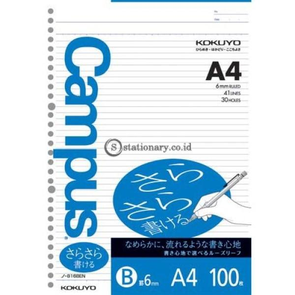 Kokuyo Loose Leaf 100 Lembar A4 6Mm N-816Ben Office Stationery
