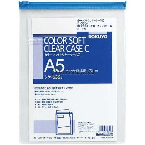 Kokuyo Soft Clear Case A5 Kuke-355B Office Stationery