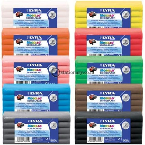 Lyra Clay Modello Schoolplast 500Gr (Lilin Modelling) Office Stationery
