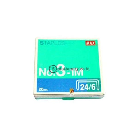 Max Isi Staples 24/6 No 3 (Satuan) Office Stationery
