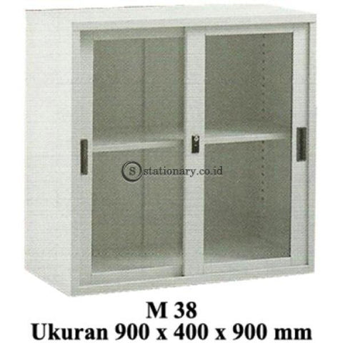 Modera Lemari Arsip Pintu Sliding Kaca Type M 38 Office Furniture