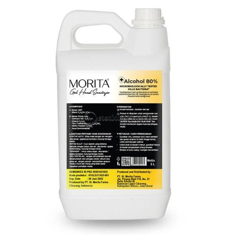 Morita GEL Hand Sanitizer 5L (Alcohol 80%)