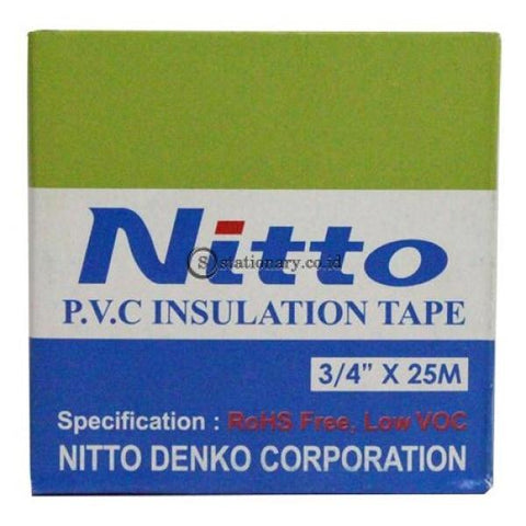 Nitto Isolasi Kabel Listrik 3/4X25 M Office Stationery
