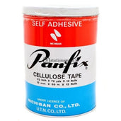 Panfix Cellulose Tape 1/2 Inch X 72 Yard (12Rolls) Office Stationery