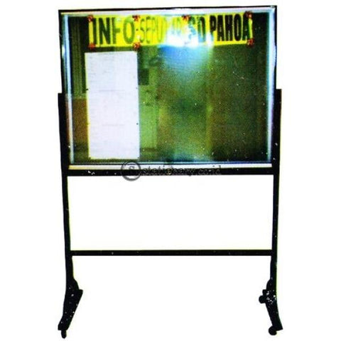 Papan Mading Dengan Kaki Standard List Aluminium Uk. 90 X 180 Gm - Pps918 Office Equipment