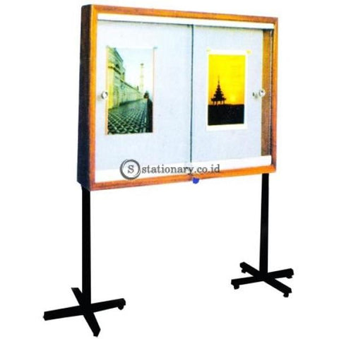 Papan Mading Dengan Kaki Standard List Kayu Uk. 90 X 120 Gm - Pps912 Office Equipment