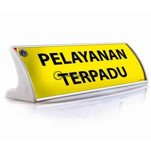 Papan Nama Meja Aluminium Office Stationery Promosi