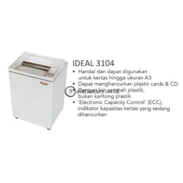 Paper Shredder Ideal 3104Cc (2 X 15Mm) Office Equipment