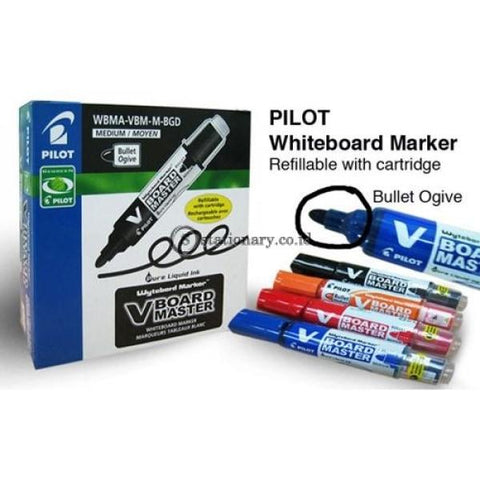 Pilot Vboard Master Whiteboard Marker Bullet Medium Red Office Stationery