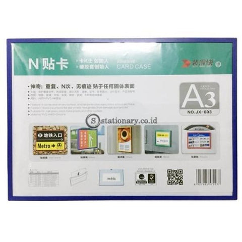 Pixel Card Case Adhesive With Frame A3 Office Stationery Promosi