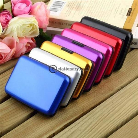Pixel Card Holder Aluminium Metal Case Gold Office Stationery Promosi