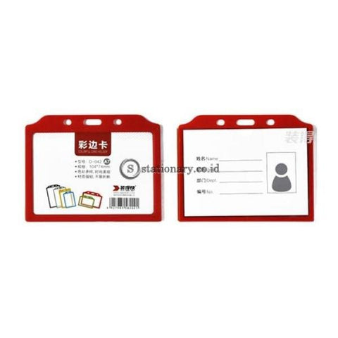 Pixel Id Card Holder Landscape With Lanyard B8 Office Stationery