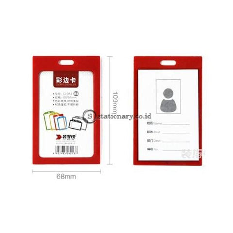 Pixel Id Card Holder Portrait With Lanyard B8 Office Stationery
