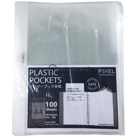 Pixel Pp Pocket Sheet Protector A4 Pxl-100 (100 Lbr) Office Stationery