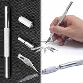 Pixel Precision Knife Pen Cutter High Grade Metal Non Slip #3269 Office Stationery