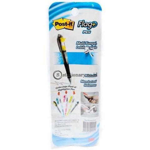Post It Ballpoint Gell 2 In 1 Flags Pen Black Office Stationery