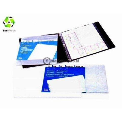 Bantex Plastik Pocket A2 Potrait 0,12mm With Top Opening (10 sheets) #2017 08