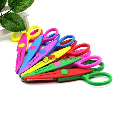 (Preorder) 1 Piece Laciness Scissors Metal And Plastic Diy Clip Art Photo Color Paper Lace Diary