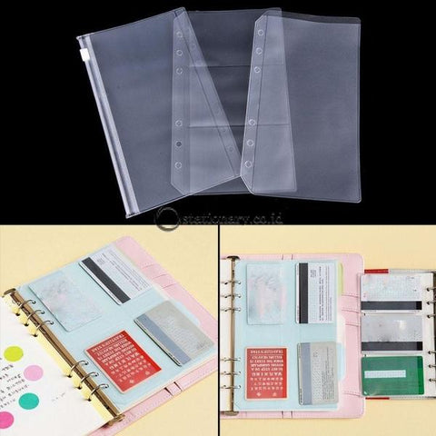 (Preorder) A5/a6 Transparent Zip Lock Envelope Binder Pocket Refill Organization Stationery School