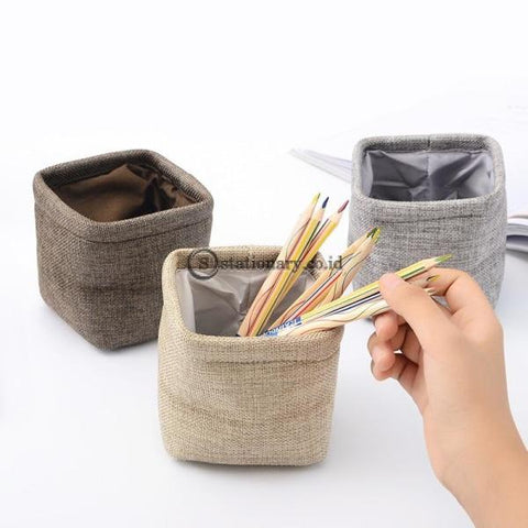 (Preorder) Creative Simple Mini Cloth Pen Holder Stationery Pencil Organizer For Desk Office