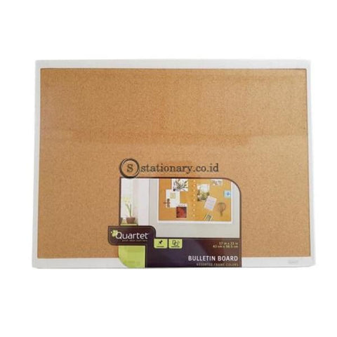 Quartet Bulletin Cork Board White Frame 43Cm X 58.5Cm #mhob1723 Office Stationery