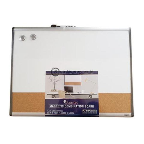 Quartet Whiteboard Magnetik Combination Cork Board Arcframe 43Cm X 58Cm #79370 Office Stationery