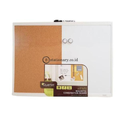 Quartet Whiteboard Magnetik Combination Cork Board White Frame 43Cm X 58.5Cm #21-580653Q Office