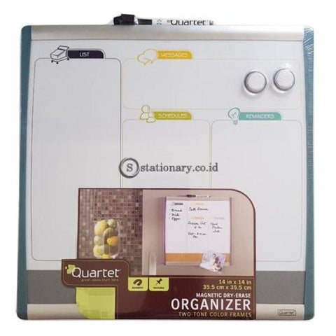 Quartet Whiteboard Magnetik Organizer Two Tone Color Frames 35.5Cm X #79231 Office Stationery